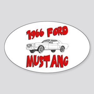 1966 Ford Mustang Sticker (Oval)