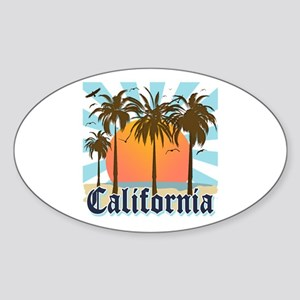 Vintage California Sticker (Oval)