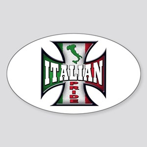 italian pride Oval Sticker