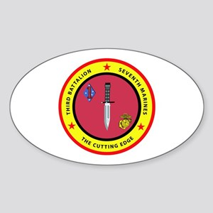 3rd Battalion 7th Marines Sticker (Oval)
