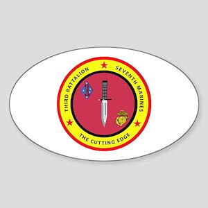 3rd Battalion 7th Marines Sticker (Oval)
