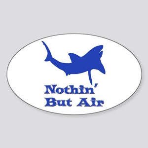 Leaping Great White Sticker (Oval)
