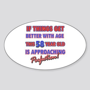 Funny 58th Birthdy designs Sticker (Oval)