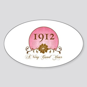 1912 A Very Good Year Sticker (Oval)