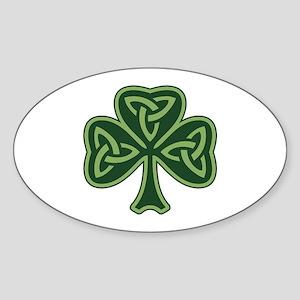 Trinity Shamrock Sticker (Oval)
