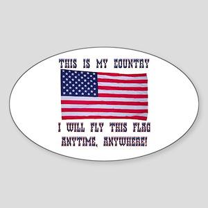 Flag2 Sticker (Oval)
