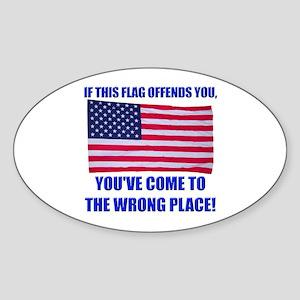 Flag1a Sticker (Oval)
