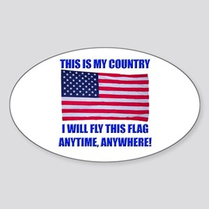 Flag2a Sticker (Oval)