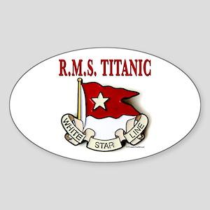White Star Line: RMS Titanic Sticker (Oval)
