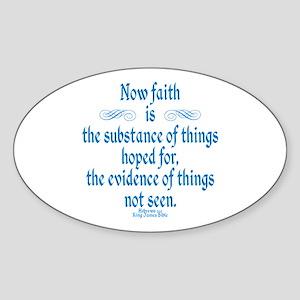Hebrews 11 1 Scripture Sticker (Oval)