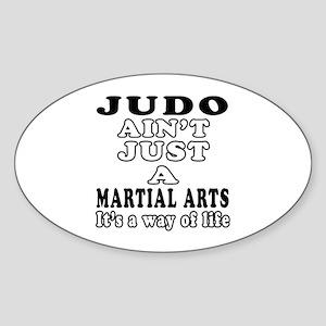 Judo Martial Arts Designs Sticker (Oval)