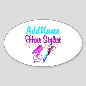 STUNNING STYLIST Sticker (Oval)