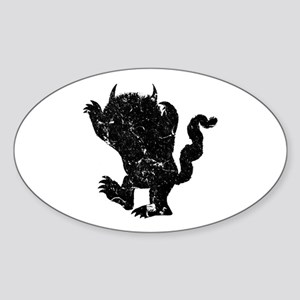 Wild Things Silhouette Sticker (Oval)