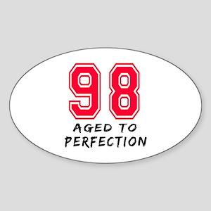 98 Year birthday designs Sticker (Oval)