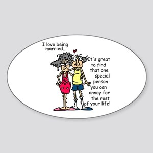 Marriage Humor Sticker (Oval)