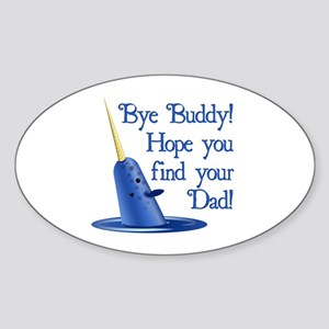 Mr. Narwhal Quote from Elf Oval Sticker