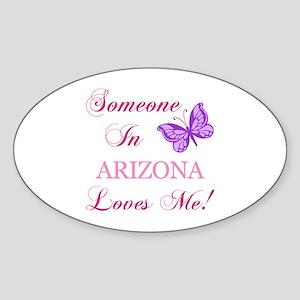 Arizona State (Butterfly) Sticker (Oval)