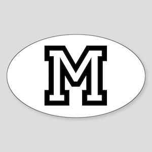 Personalized Monogram M Sticker
