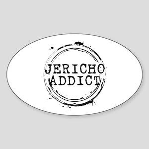 Jericho Addict Stamp Oval Sticker