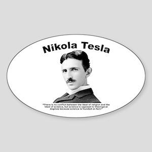 Tesla: Religion Sticker (Oval)