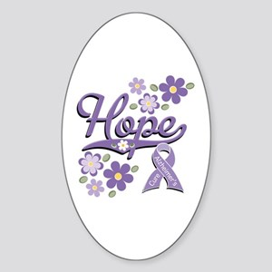 Hope Alzheimer's Oval Sticker