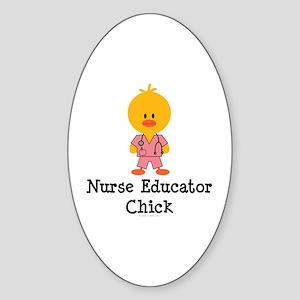 Nurse Educator Chick Oval Sticker