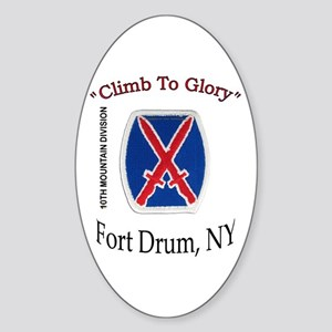 "10th Mountain Div ""Climb To G Oval Sticker"