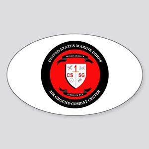 Combat Service Support Group - 1 Sticker (Oval)