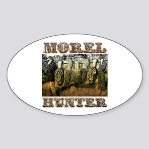 Morel hunter gifts and t-shir Oval Sticker