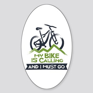 My Bike is Calling Sticker (Oval)
