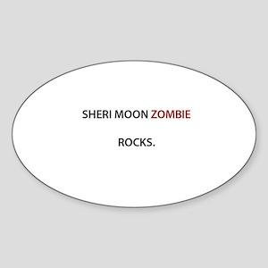 Sheri Moon Zombie Rocks. Oval Sticker