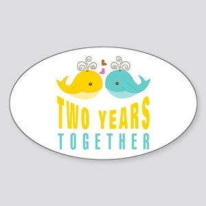 2nd aniversary celebration Sticker (Oval)