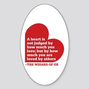 Wizard of Oz - Heart Judged Sticker (Oval)