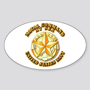 Navy - Command At Sea Sticker (Oval)