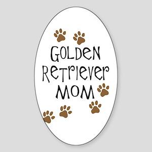 Golden Retriever Mom Oval Sticker