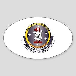 SSI - 3rd Battalion - 1st Marines USMC Sticker (Ov