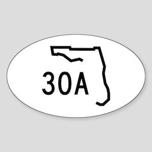 30A Florida Coast Sticker (Oval)