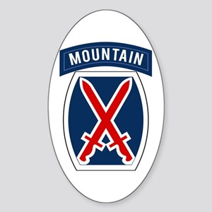 10th Mountain Sticker (Oval)