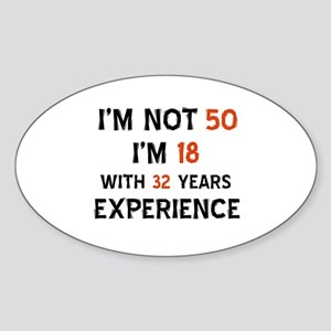 50 year old designs Sticker (Oval)