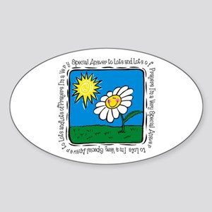 Answer To Prayer Oval Sticker