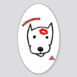 Kissabull Oval Sticker