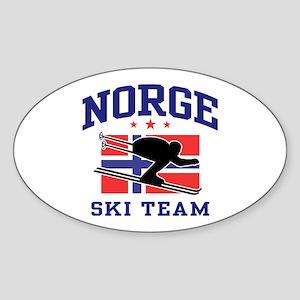 Norge Ski Team Sticker (Oval)