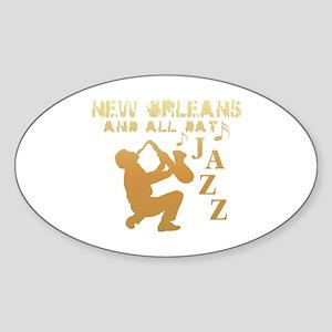 New Orleans Jazz (1) Oval Sticker