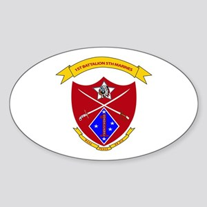 1st Battalion 5th Marines Sticker (Oval)