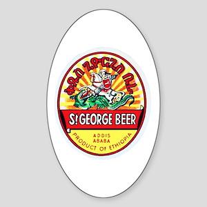 Ethiopia Beer Label 4 Sticker (Oval)
