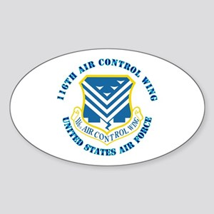 116th Air Control Wing with Text Sticker (Oval)