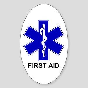 BSL - First Aid Sticker (Oval)
