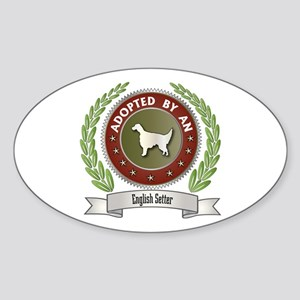 Setter Adopted Oval Sticker