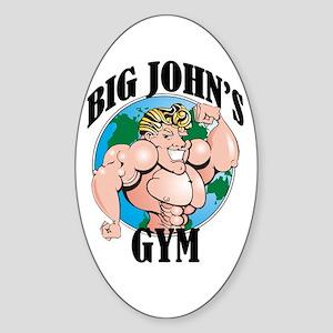 Big John's Gym Oval Sticker
