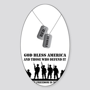 Red Friday Sticker (Oval)